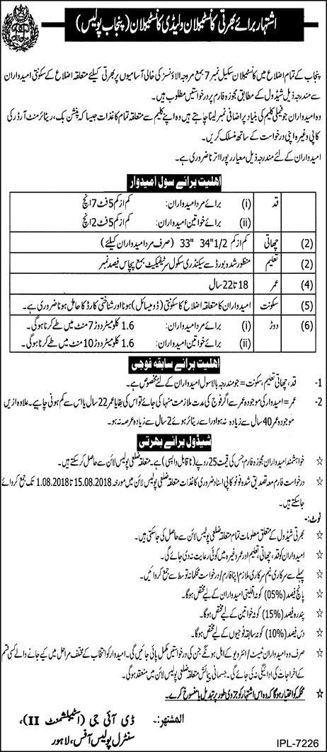 Punjab Police Constable Jobs 2018 Online Test Preparation Past Solved Papers