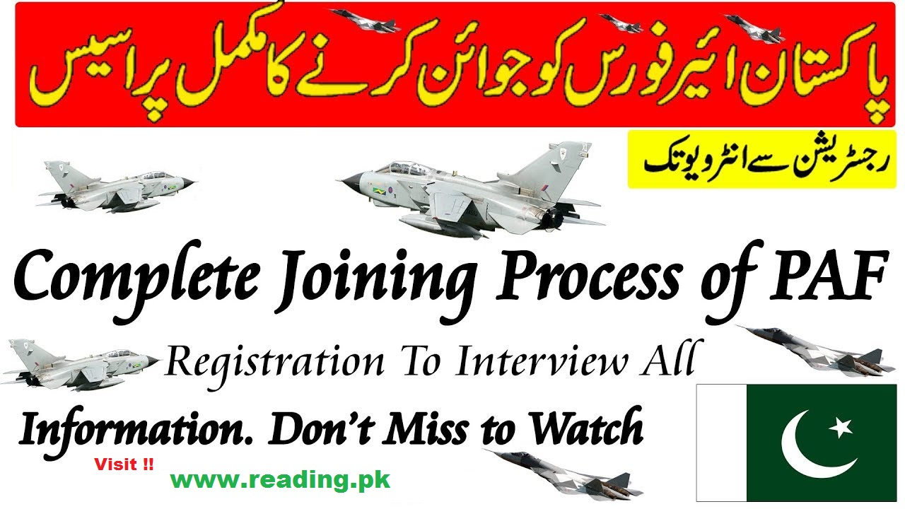 Join PAF as Airman 2018 Apply Registration Online Last Date Advertisement Eligibility Criteria Application Form submission details.
