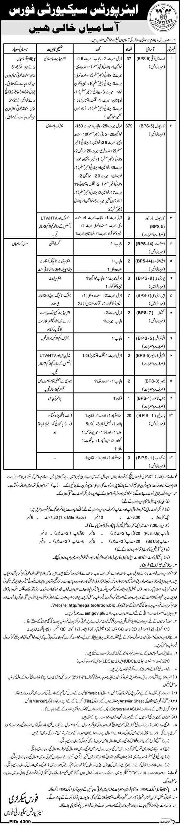 Airports Security Force Pakistan ASF Jobs 2018 Application Form