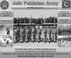 Join Pak Army 147 PMA Long Course 2021 As Commissioned Officer Register Online